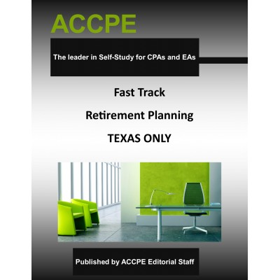 Fast Track Retirement Planning-2017 TEXAS ONLY