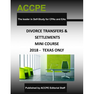 Divorce Transfers and Settlements-Mini-Course-Texas-Only