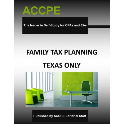 Family Tax Planning 2018 TEXAS ONLY