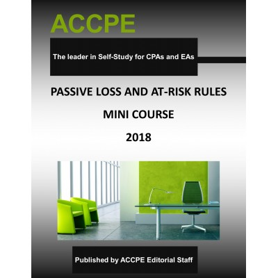 Passive Loss & At-Risk Rules Mini-Course 2018