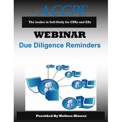 Due Diligence Reminders