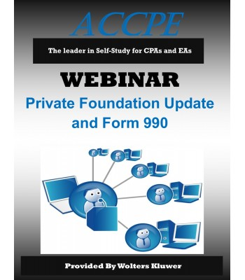 Private Foundation Update and Form 990