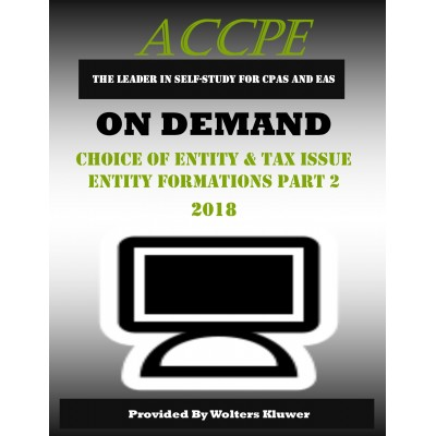 Choice of Entity & Tax Issue Entity Formations Part 2