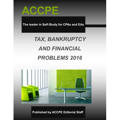 Tax, Bankruptcy & Financial Problems 2016