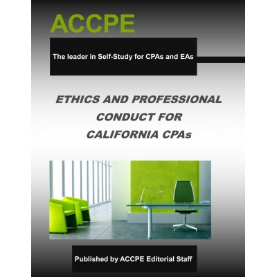 Ethics and Professional Conduct for California CPAs-2018