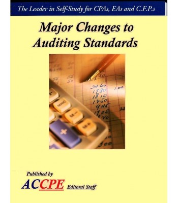 Major Changes To Auditing Standards - 2017