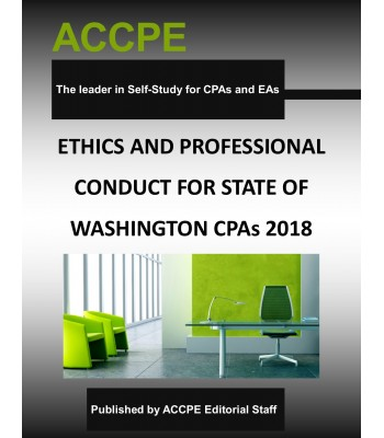 Ethics and Professional Conduct for State of Washington CPAs 2018