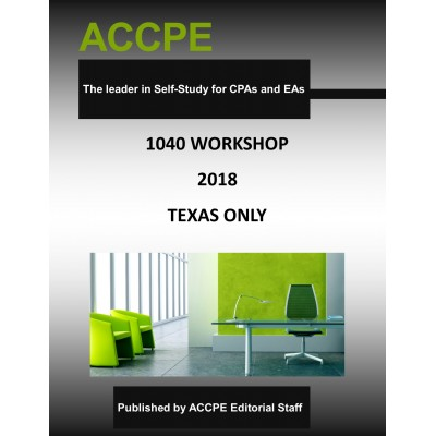 1040 Workshop 2018 TEXAS ONLY