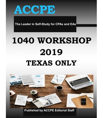 1040 Workshop 2019 TEXAS ONLY