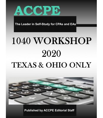 1040 Workshop 2020 TEXAS ONLY & OHIO ONLY