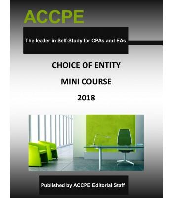 Choice Of Entity Mini-Course