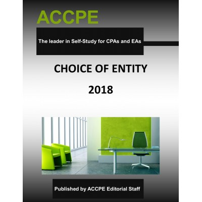 Choice Of Entity 2018