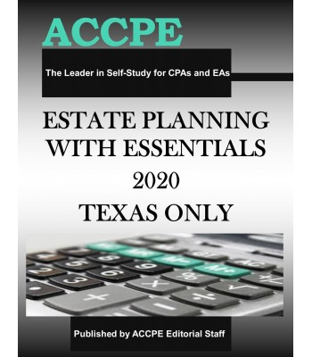 Estate Planning Essentials 2020 TEXAS ONLY & OHIO ONLY