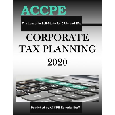 Corporate Tax Planning 2020