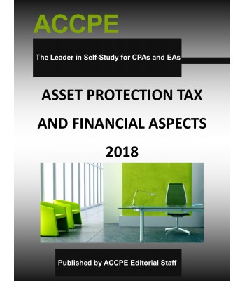 Asset Protection Tax and Financial Aspects 2018