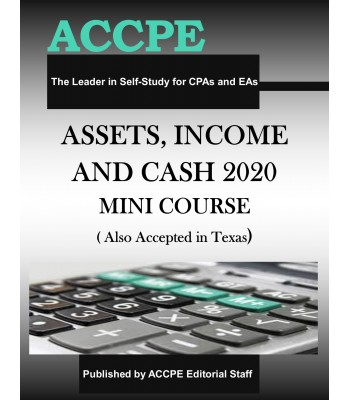 Assets, Income & Cash 2020 Mini-Course