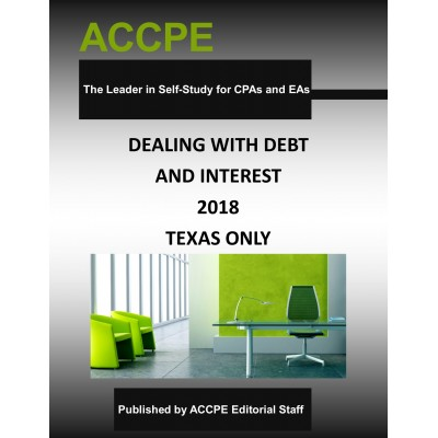 Dealing With Debt and Interest 2018 TEXAS ONLY
