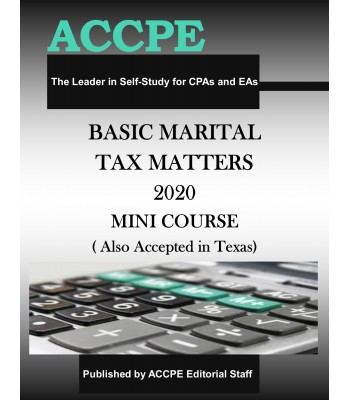 Basic Marital Tax Matters 2020 Mini Course