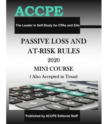 Passive Loss & At-Risk Rules 2020 Mini Course