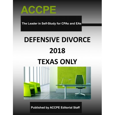 Defensive Divorce 2018 TEXAS ONLY