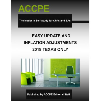 Easy Update & Inflation Adjustments 2018 - TEXAS ONLY