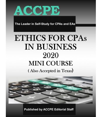 Ethics for CPAs in Business 2020