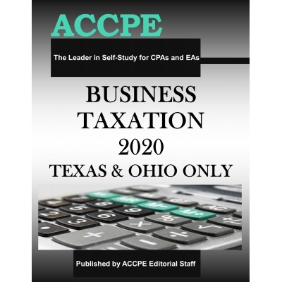 Business Taxation 2020 Texas & Ohio Only