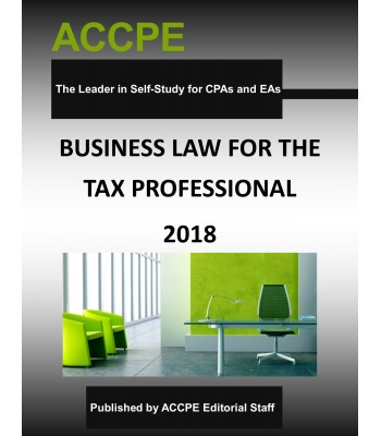 Business Law for the Tax Professional 2018