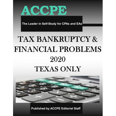 Tax Bankruptcy and Financial Problems 2020 TEXAS & OHIO ONLY