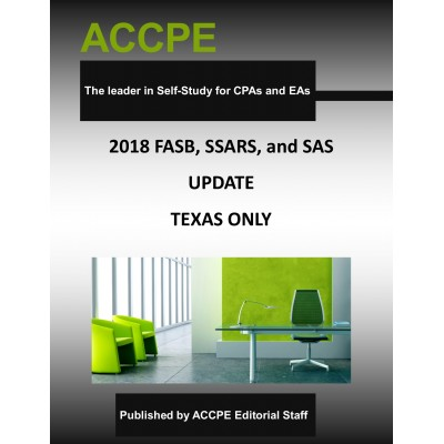 FASB, SSARS and SAS Update and Review 2018 TEXAS ONLY