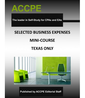 Selected Business Expenses Mini-Course-Texas-Only