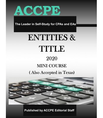 Entities and Title 2020 Mini Course