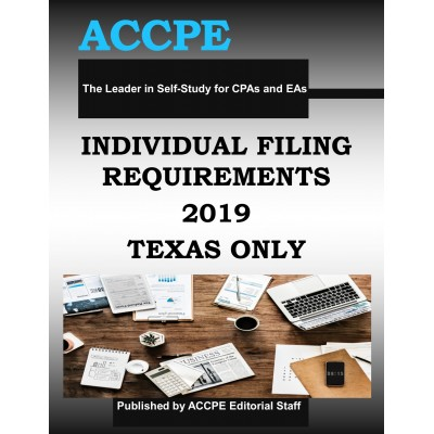 Individual Filing Retirements 2019 Mini Course TEXAS ONLY