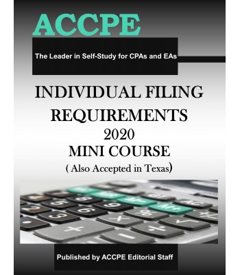 Individual Filing Retirements 2020 Mini Course