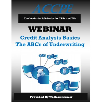 Credit Analysis Basics The ABCs of Underwriting