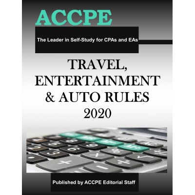 Travel, Entertainment and Auto Rules 2020