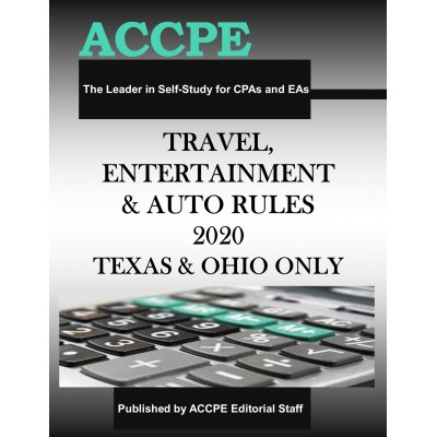 Travel, Entertainment and Auto Rules 2020 TEXAS & OHIO ONLY