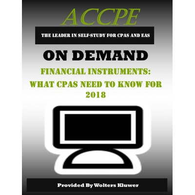 Financial Instruments What CPAs Need to Know for 2018
