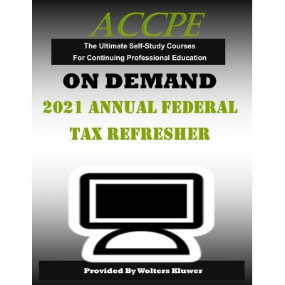 2021 Annual Federal Tax Refresher (AFTR)