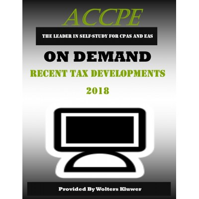 Recent Tax Developments