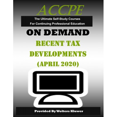 Recent Tax Developments (April 2020)