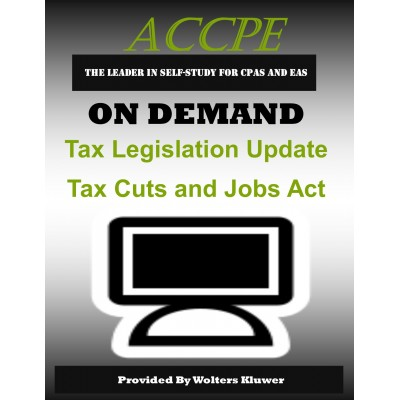 Tax Legislation Update Tax Cuts and Jobs Act