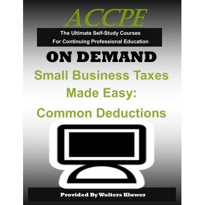 Small Business Taxes Made Easy: Common Deductions