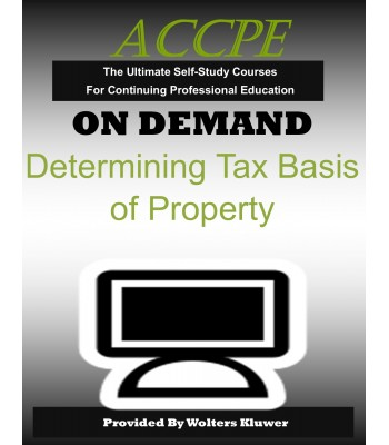 Determining Tax Basis of Property