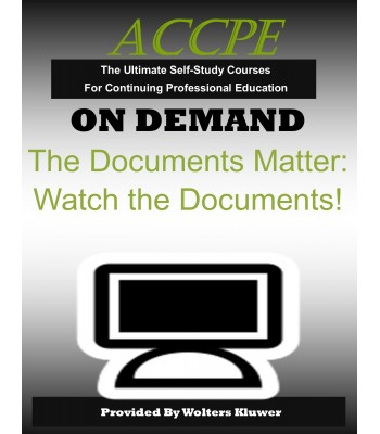 The Documents Matter: Watch the Documents!