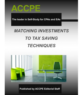 Matching Investments to Tax Saving Techniques-TEXAS ONLY-506020T-2016