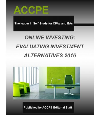 Online Investing: Evaluating Investment Alternatives 2016