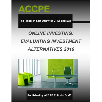 Online Investing: Evaluating Investment Alternatives 2016