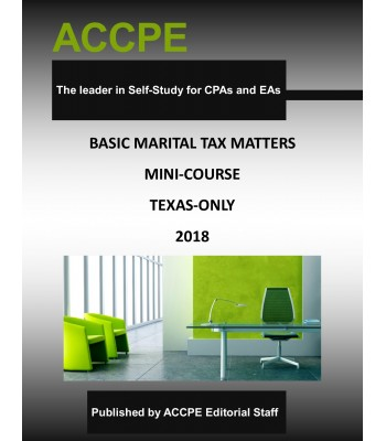Basic Marital Tax Matters Mini-Course-Texas-Only