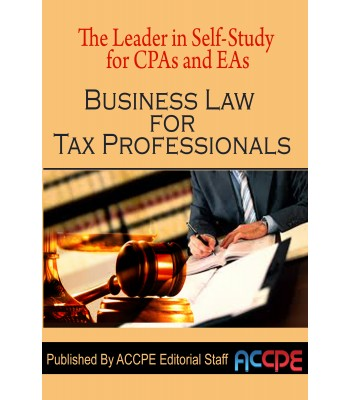 Business Law for Tax Professionals  2017